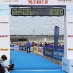 Jan Buerger Evgenii Smirnov Peter Rudolph Zieleinlauf Ironman 70.3 Berlin Triathlon 2013 Tempelhof