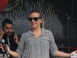 Jeanette Biedermann Buehne Gesicht face Kopf Promi EWIG REWE family Familien Event Berlin Festplatz