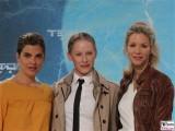 Judith Doeker, Susanne Wuest, Nina Gnaedig Gesicht Promi face Terminator Genisys Arnold Schwarzenegger Premiere Sony Center Berlin