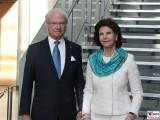 König Schweden Carl Gustaf Bernadotte, Königin Sylvia von Schweden Promi Felleshus Gemeinschaftshaus Nordische Botschaften Berichterstatter