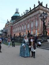 Koenig Friedrich der Grosse am Neuen Palais Abenddämmerung Park Sanssouci XV Potsdamer Schloessernacht Potsdam