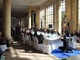 Konferenzsaal M100 Orangeriegebaeude seitenfluegel M100 Promi Saal Colloquium Medienkonferenz Sanssouci Orangerie Potsdam Berichterstatter
