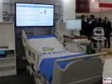 Krankenhausbett groß Überbreite Blickfang Hingucker Eyecatcher Intensivstation ConhIT Messe Berlin