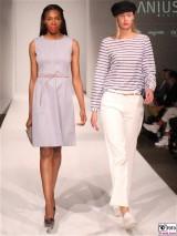 LANIUS Kleid 11,12 Fashion Week Salonshow Greenshowroom MBFWB EthicalFashionShow Postbahnhof FashionWeek