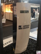 Ladesaeule Leipziger Leuchten belektro Messe Berlin Elektrizitaet Messegelaende Funkturm Berichterstatter TrendJam