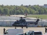 Landung 2019 Super Puma Airbus Helicopter H225 Bundespolizei THF ehemaligee Flughafen Tempelhof Berlin Luftbruecke 70 Jahre Berichterstattung TrendJam