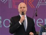 MP Dietmar Woidke Gesicht face Kopf SPD Brandenburger Sommerabend Potsdam Schiffbauergasse Fotowand Berichterstatter