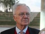 Manfred Stolpe Gesicht face Promi Ministerpraesident SPD Sommer Jubilaeum Volkspark Buga Potsdam Fest Feier Partei