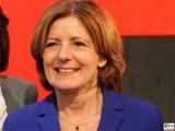 Malu Dreyer Gesicht Promi SPD Ministerpraesidentin Rheinland-Pfalz Bundesparteitag Berlin CityCube Messe Berlin Berichterstattung TrendJam