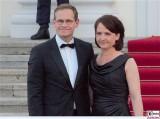 Michael Müller, Claudia Müller Kleid Promi Queen Besuch Schloss Bellevue Staatsbankett Berlin