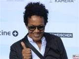 Mo Asumang Gesicht face Kopf Produzentenfest Produzentenallianz Regen Kongresshalle Hutschachtel WestBerlin Berichterstatter