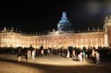Mopke am Neuen Palais nachts Park Sanssouci XV Potsdamer Schloessernacht Potsdam