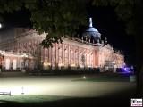 Neues Palais Lampen Garten Skulpturen Treppen Schloessernacht Beleuchtung Illumination Potsdam Schlosspark