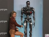 Nina Gnaedig Promi Terminator Genisys Arnold Schwarzenegger Premiere Sony Center Berlin