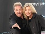 Oliver Kalkofe, Connie Kalkofe Gesicht Promi face Terminator Genisys Arnold Schwarzenegger Premiere Sony Center Berlin