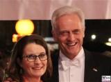 Peter Ramsauer, Susanne Ramsauer Gesicht Promi face Kopf SemperOper Ball Theaterplatz Dresden Berichterstatter