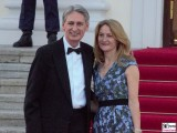 Philip Hammond, Susan Williams-Walker Kleid Promi Queen Besuch Schloss Bellevue Staatsbankett Berlin