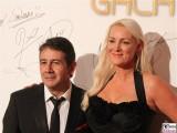 Placido Domingo jr.,Friederike Krum Gesicht face Kopf Promi Jose Carreras Gala Hotel Estrell Berlin SAT.1GOLD Berichterstatter