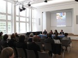 Pressekonferenz Saal Altes Rathaus Potsdam Ralf Proeve Jutta Goetzmann Iris Magdowski Markus Wicke vlnr