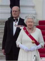 Queen Elizabeth II. Prinz Philip Promi Schloss Bellevue Staatsbankett Berlin