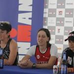 Rachel McBride Katja Konschak Barbara Riveros vlnr Ironman 70.3 Berlin Triathlon Gewinner Winner 2013 Tempelhof
