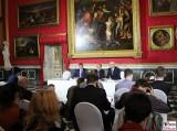 Raffaelsaal M100 Presse Konferenz Orangerie Sanssouci Colloquium 70. Jahrestag Potsdamer Abkommen Landeshauptstadt Potsdam