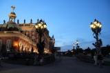 Rampe an Wohnung Friedrich des Grossen im Neuen Palais nachts aussen Park Sanssouci XV Potsdamer Schloessernacht Potsdam