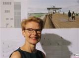 Regula Lüscher Gesicht face Kopf Siegerentwurf mlzd Schweiz 1. Platz Ausstellung Oeffnung Tower Aussichtsplattform Flughafen Gebaeude Tempelhof THF