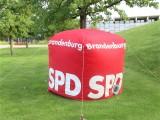 SPD Prandenburg logo Wuerfel Ico Aufsteller Sommer Jubilaeum Volkspark Buga Potsdam Fest Feier Partei