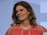 Sarah Wiener Gesicht face Kopf Produzentenfest Sommerparty Produzentenallianz Summerparty Kongresshalle WestBerlin Berichterstatter