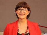 Saskia Esken Gesicht Promi SPD Bundesvorsitzende Bundesparteitag Berlin CityCube Messe Berlin Berichterstattung TrendJam
