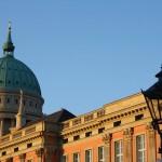 Schinkelleuchte stadtschloss potsdam schloss wiederaufbau baustelle steuben platz cam neuer Landtag