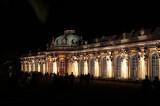 Schloss Sans souci Terrasse Gartenseite nachts Park Sanssouci XV Potsdamer Schloessernacht Potsdam