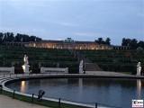 Schloss Sanssouci Daemmerung Fontaine Weinberg Skulpturen Terrassen Treppen Schloessernacht Beleuchtung Illumination Potsdam Schlosspark