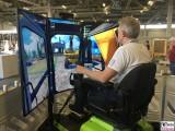 Simulator Baumaschinen bautec Messe Berlin Fachmesse Funkturm Bau Gebaeude Ausruestung Berichterstatter