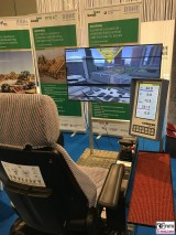 Simulator Turmdrehkran bautec Messe Berlin Fachmesse Funkturm Bau Gebaeude Ausruestung Berichterstatter
