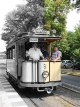 Straßenbahn Potsdam Glienicker Brücke Lindner Triebwagen 1907 zweiachsiger Motorwagen