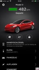TESLA APP Model 3 Dual Motor Performance App Startseite PresseFoto Elektromobilitaet Berichterstattung
