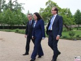Thomas de Maizière, Andrea Nahles, Alexander Dobrindt Kabinett Merkel Klausur Tagung Gasten Schloss Meseberg Gästehaus Bundesregierung