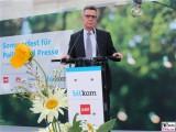 Thomas de Maiziere Gesicht face Kopf Rede BM Bitkom Sommerfest Hamburger Bahnhof Berlin IT Museum für Gegenwart Berichterstatter