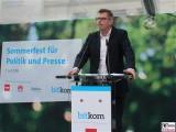 Thorsten Dirks Gesicht face Kopf Rede Bitkom Sommerfest Hamburger Bahnhof Berlin IT Museum für Gegenwart Berichterstatter