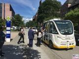 Trapeze Trapizio Haltestelle BVG autonomes Fahren Charite Campus Projekt Test Kleinbus Mitte Virchow Klinik Berichterstatter