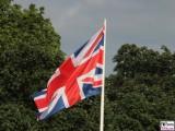 Union Jack, Union Flag Besuch Queen Elizabeth II. Königin Besuch Schloss Bellevue Berlin