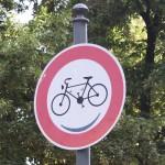 Verbot für Fahrräder wird belaechelt