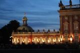 Wohnung Friedrich des Grossen im Neuen Palais nachts aussen Park Sanssouci XV Potsdamer Schloessernacht Potsdam