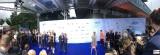 roter blauer Teppich Fotografen Stars Produzentenfest Produzentenallianz Regen Kongresshalle Hutschachtel WestBerlin Berichterstatter